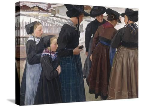 On the Way to Church, 1904-Ernest Bieler-Stretched Canvas Print