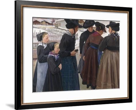 On the Way to Church, 1904-Ernest Bieler-Framed Art Print