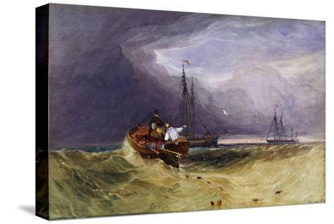 Fishing Boats Off Yarmouth-John Sell		 Cotman-Stretched Canvas Print