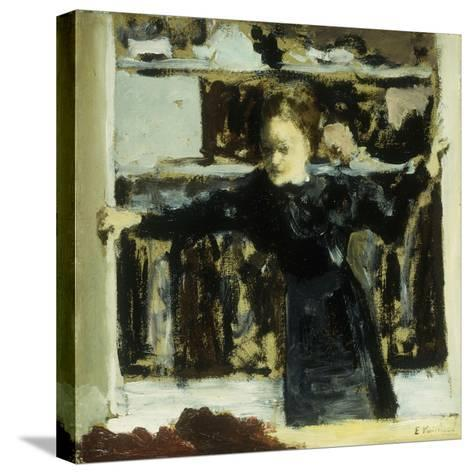 Woman Opening a Window-Edouard Vuillard-Stretched Canvas Print