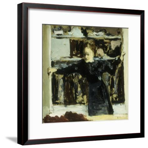 Woman Opening a Window-Edouard Vuillard-Framed Art Print