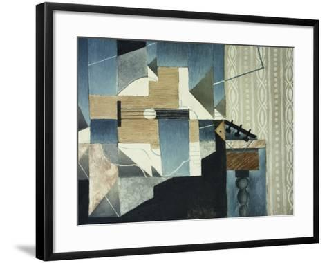 Guitar on Table-Juan Gris-Framed Art Print