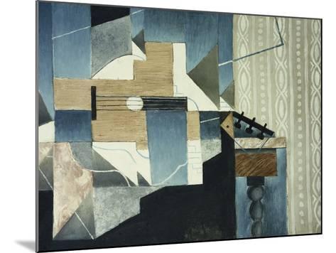 Guitar on Table-Juan Gris-Mounted Giclee Print
