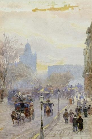 A Street in London-Rose Maynard		 Barton-Stretched Canvas Print