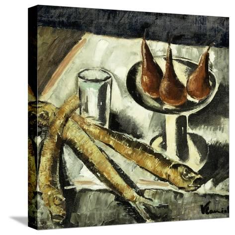 Still-life with Fish-Maurice Vlaminck-Stretched Canvas Print