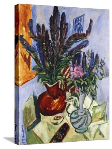 Still Life with a Vase of Flowers-Ernst Ludwig Kirchner-Stretched Canvas Print