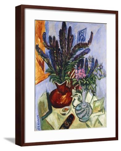 Still Life with a Vase of Flowers-Ernst Ludwig Kirchner-Framed Art Print