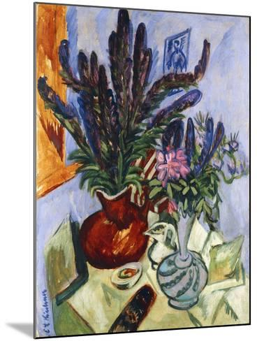 Still Life with a Vase of Flowers-Ernst Ludwig Kirchner-Mounted Giclee Print