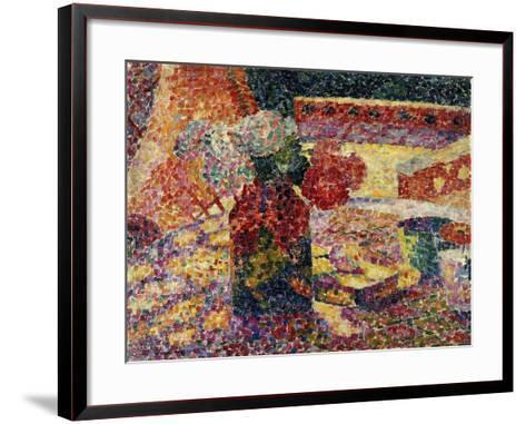 Still Life with Vase of Flowers-Robert Delaunay-Framed Art Print
