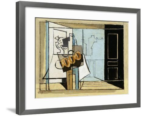 Monday, the Open Window-Louis Marcoussis-Framed Art Print