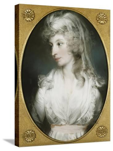 Portrait of Mary Wood-John Russell-Stretched Canvas Print