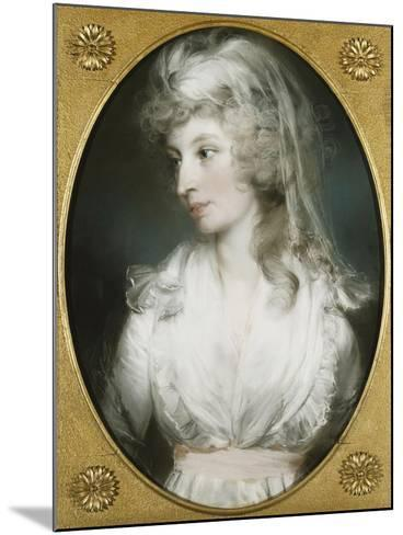 Portrait of Mary Wood-John Russell-Mounted Giclee Print