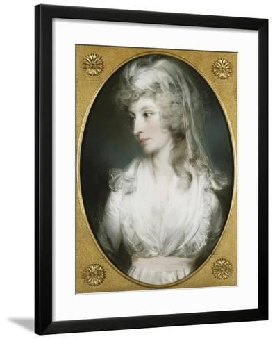 Portrait of Mary Wood-John Russell-Framed Art Print