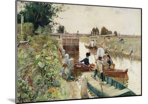 Boaters in a Lock on the Thames-Hector Caffieri-Mounted Giclee Print