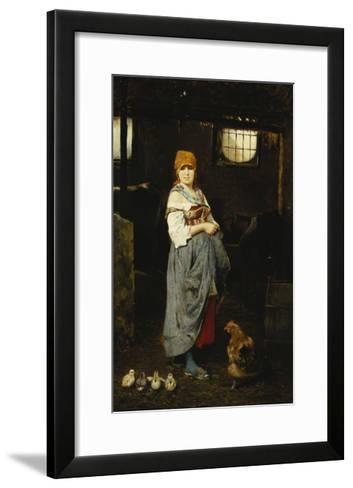 The Farm Girl-F. Ducale-Framed Art Print