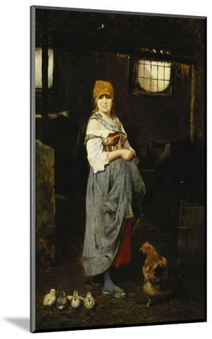 The Farm Girl-F. Ducale-Mounted Giclee Print