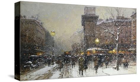 La Porte St. Martin, Paris-Eugene Galien-Laloue-Stretched Canvas Print