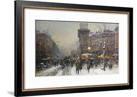La Porte St. Martin, Paris-Eugene Galien-Laloue-Framed Art Print
