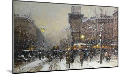 La Porte St. Martin, Paris-Eugene Galien-Laloue-Mounted Giclee Print