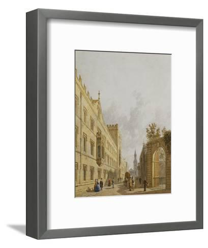 Exeter College, Oxford-George		 Pyne-Framed Art Print