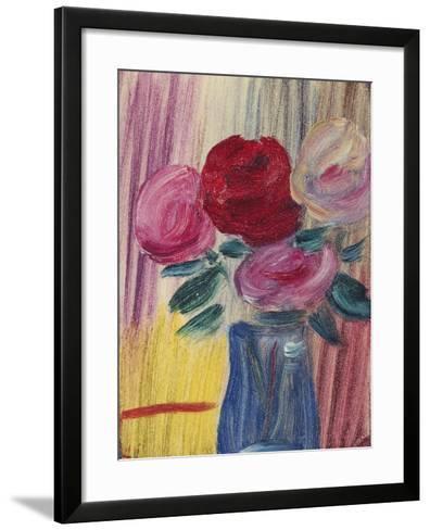 Flowers in Blue Vase-Alexej Von Jawlensky-Framed Art Print