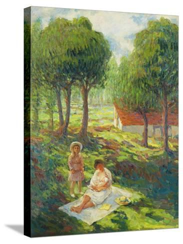 Mother and Child in a Landscape-Henri		 Lebasque-Stretched Canvas Print