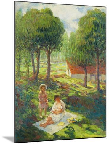 Mother and Child in a Landscape-Henri		 Lebasque-Mounted Giclee Print