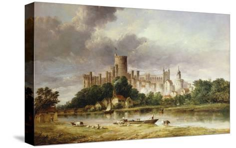 A View of Windsor Castle from the Brocas Meadows-Alfred Vickers-Stretched Canvas Print