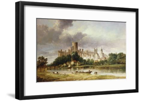A View of Windsor Castle from the Brocas Meadows-Alfred Vickers-Framed Art Print