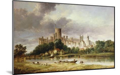 A View of Windsor Castle from the Brocas Meadows-Alfred Vickers-Mounted Giclee Print