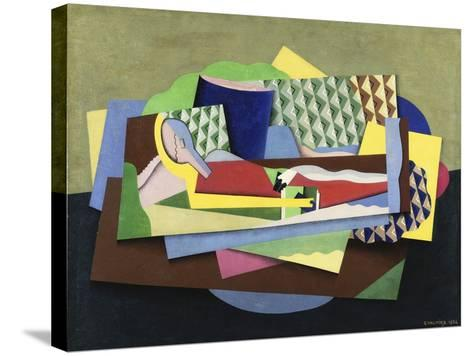 Woman Lying Down-Georges Valmier-Stretched Canvas Print