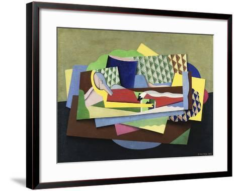 Woman Lying Down-Georges Valmier-Framed Art Print