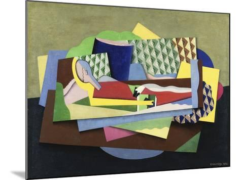 Woman Lying Down-Georges Valmier-Mounted Giclee Print