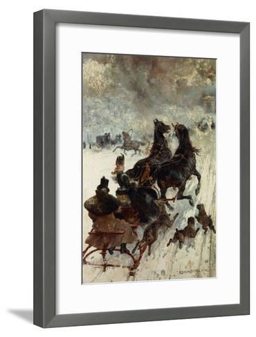 The Sled Race-Edmond Morin-Framed Art Print