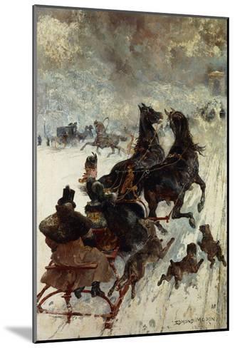 The Sled Race-Edmond Morin-Mounted Giclee Print