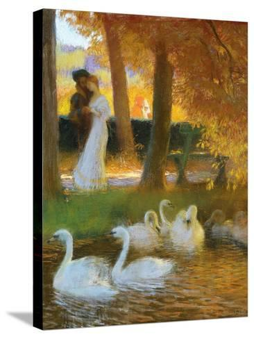 Lovers and Swans-Gaston Latouche-Stretched Canvas Print