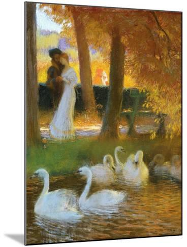 Lovers and Swans-Gaston Latouche-Mounted Giclee Print