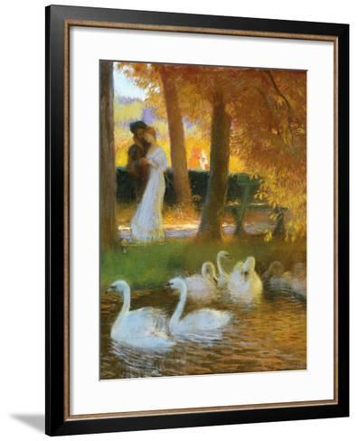 Lovers and Swans-Gaston Latouche-Framed Art Print