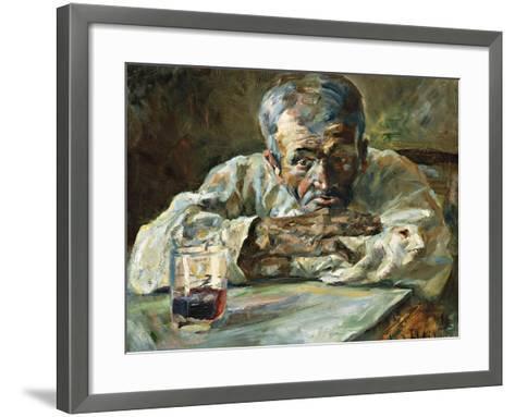 The Alcoholic, Father Mathias-Henri de Toulouse-Lautrec-Framed Art Print