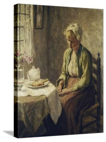 Grace before the Meal-Evert		 Pieters-Stretched Canvas Print
