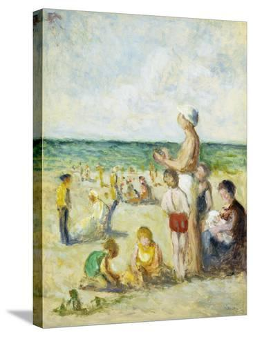 On the Beach in Normandy-Maximilien		 Luce-Stretched Canvas Print