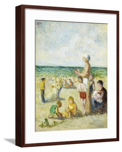 On the Beach in Normandy-Maximilien		 Luce-Framed Art Print