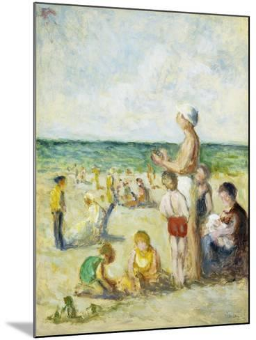 On the Beach in Normandy-Maximilien		 Luce-Mounted Giclee Print