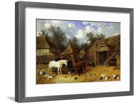 The Artist's Farmyard at Meopham, Kent-John Frederick Herring I-Framed Art Print