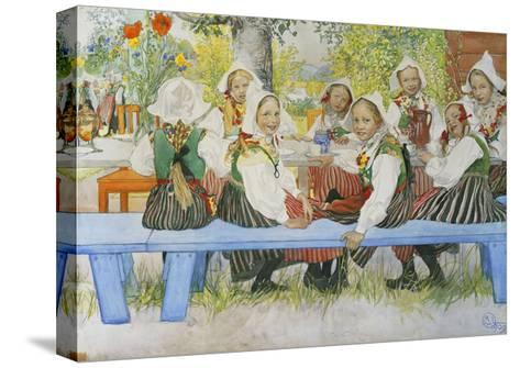 Kersti's Birthday-Carl Larsson-Stretched Canvas Print