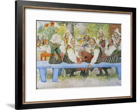 Kersti's Birthday-Carl Larsson-Framed Art Print