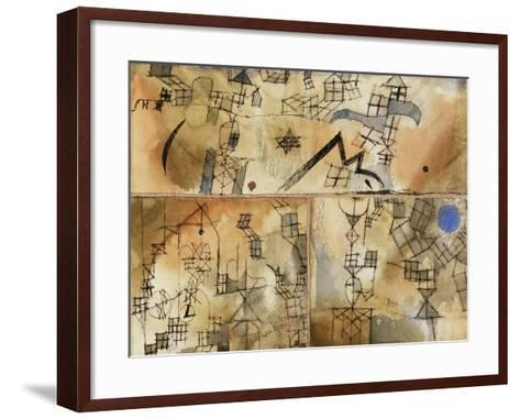 Three-Part Composition-Paul Klee-Framed Art Print