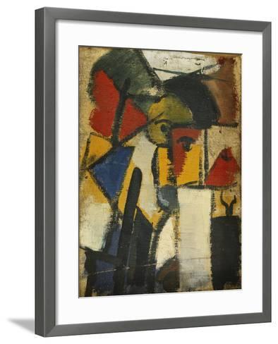 Head-Theo Doesburg-Framed Art Print