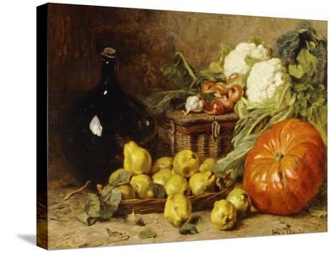 A Still Life with a Wine Flagon-Eugene Claude-Stretched Canvas Print