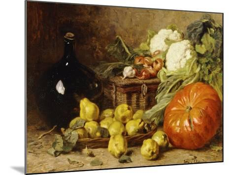 A Still Life with a Wine Flagon-Eugene Claude-Mounted Giclee Print